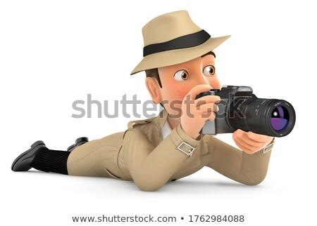 3D detetive câmera ilustração isolado Foto stock © 3dmask