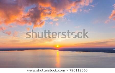 озеро Беларусь небе пейзаж лет Сток-фото © borisb17