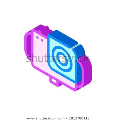 водонепроницаемый материальных камеры изометрический икона вектора Сток-фото © pikepicture