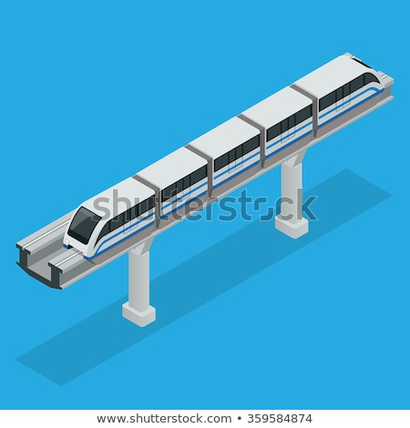 Public Transport Monorail isometric icon vector illustration Stock photo © pikepicture