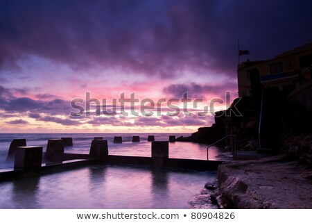 夜明け · シドニー · ビーチ · プール · 有名な · 東部 - ストックフォト © mroz