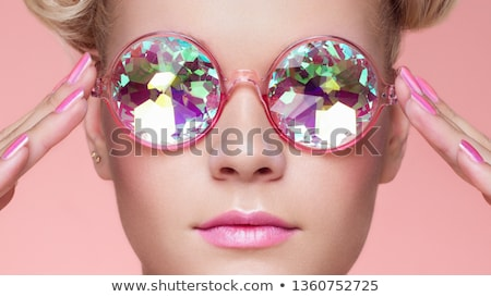 beautiful woman with coral lips Stock photo © lubavnel
