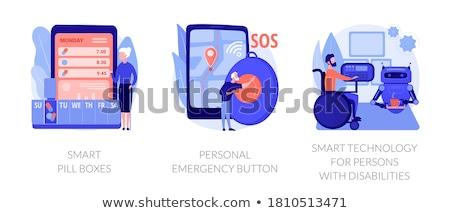 Kişisel acil durum düğme insanlar kayıp sorun Stok fotoğraf © RAStudio