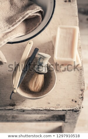 Antique Shaving Stock photo © AlphaBaby
