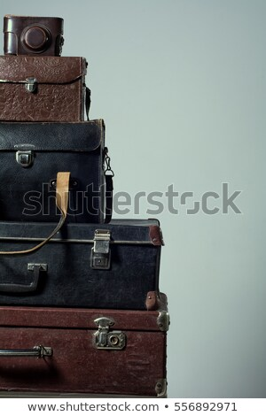 Lock guardaroba legno sfondo nero oro Foto d'archivio © vlaru