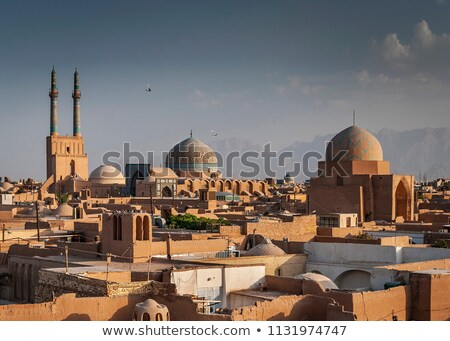 Daken Iran stad gebouwen Stockfoto © travelphotography