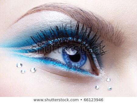 Donna occhi compongono primo piano ritratto bella donna Foto d'archivio © zastavkin