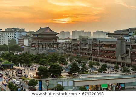 ドラム · 塔 · 古代 · 市 · 中国 · 1泊 - ストックフォト © prill