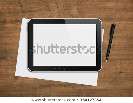 Tablet PC Computer and Notes Stock photo © adamr