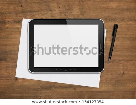 компьютер отмечает книга ipad 3D Сток-фото © adamr