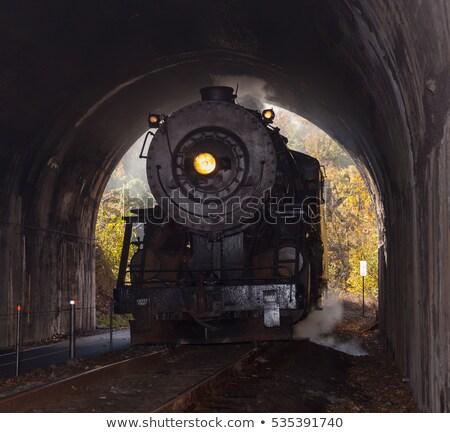 антикварная · пар · поезд · красивой · старые · железная · дорога - Сток-фото © backyardproductions