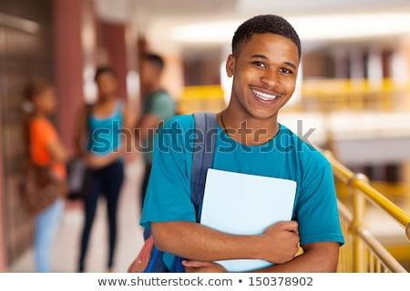 high school boy with backpack bag stock photo © lovleah