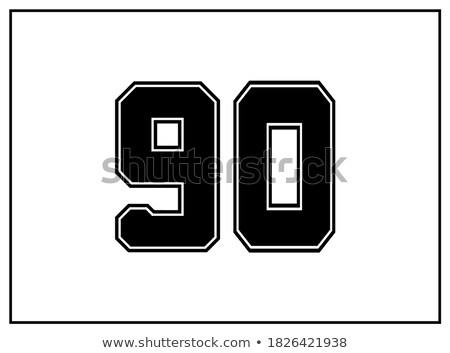 Numer piłka nożna piłka nożna czarny danych gry Zdjęcia stock © Archipoch