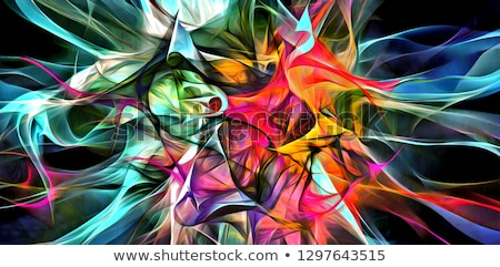 Funky Glowing Fractal Abstract Stock photo © ArenaCreative
