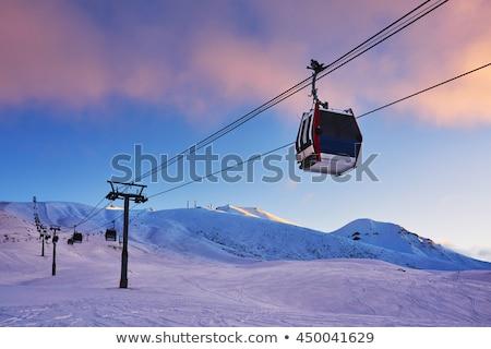 Gondel ski lift hoog bergen europese Stockfoto © pkirillov