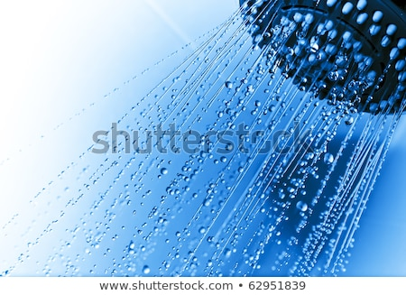 Douche buse gouttes salle de bain relevant maison Photo stock © Ansonstock