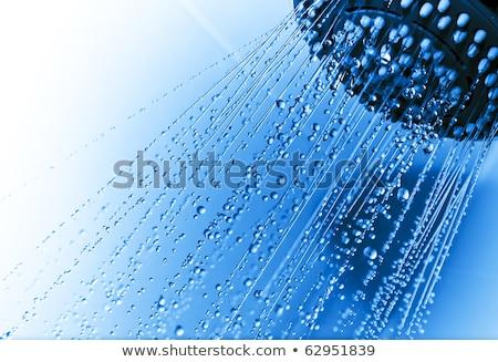 Сток-фото: Shower Nozzle With Drops In Bathroom
