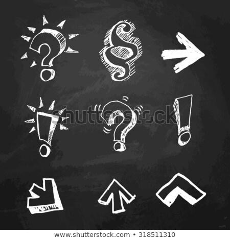cuestión · responder · blanco · tiza · pizarra - foto stock © ansonstock