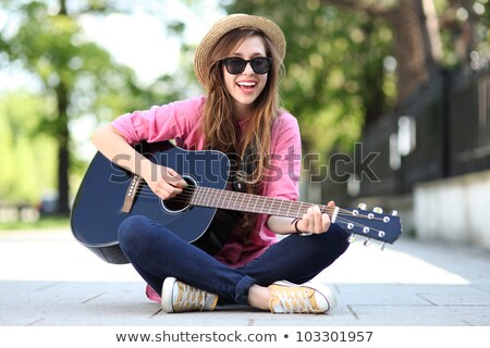 portrait of teenagers playing the guitar stock photo © photography33