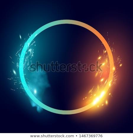 Cyan Loop Stockfoto © solarseven