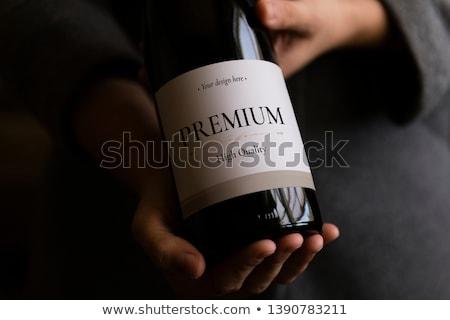 Camarero botella vino mujer trabajo tecnología Foto stock © photography33
