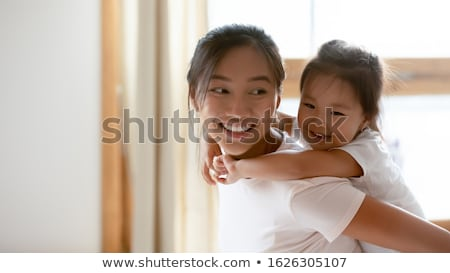 feliz · Asia · étnicas · familia · junto · posando - foto stock © ampyang