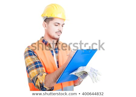 Builder writing on clip-board Stock photo © photography33