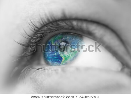 The world in eye Stock photo © REDPIXEL