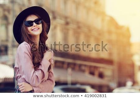 Stock photo: Model In Pink Sun Glasses