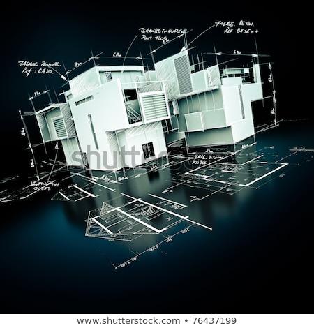 House keys on model housing project Stock photo © photography33