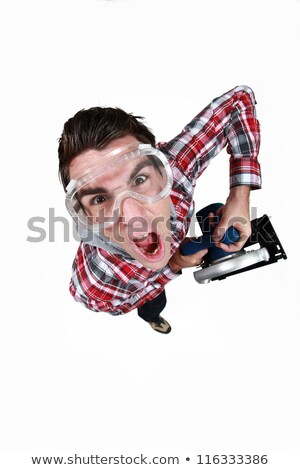 high angle shot of tradesman wearing goggles in fist of rage Stock photo © photography33