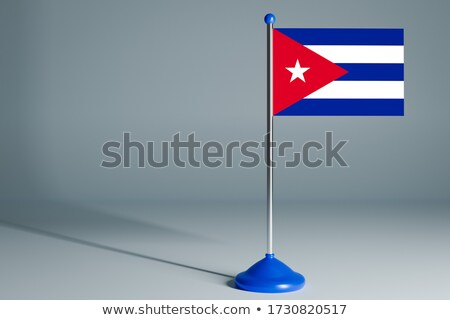 Miniatuur vlag Cuba geïsoleerd business Stockfoto © bosphorus