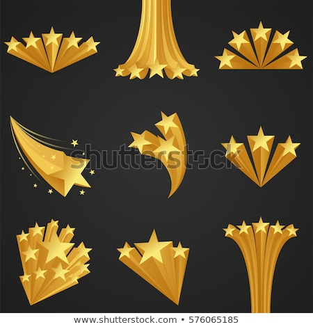 abstract shiny golden 3d star icon Stock photo © pathakdesigner