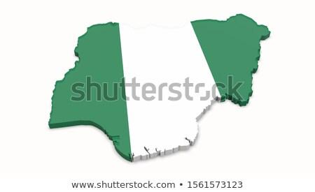 Nigeria banderą ikona odizolowany biały Internetu Zdjęcia stock © zeffss
