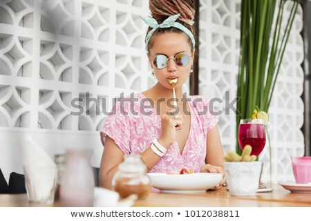 Exotic woman wearing a headband Stock photo © stryjek