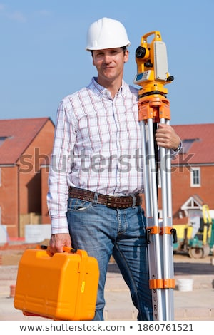 Experienced construction site surveyor Stock photo © photography33