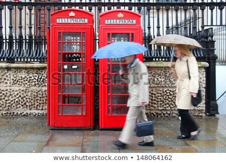 британский · погода · дождь · окна · британский · флаг · отражение - Сток-фото © Sniperz