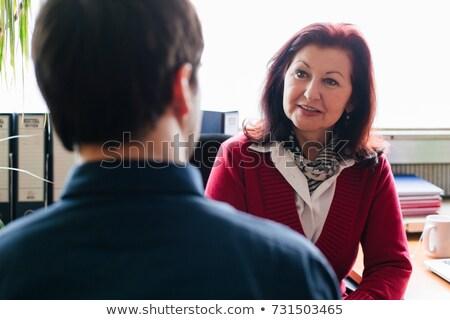 2 インタビュー 女性 会議 ストックフォト © photography33