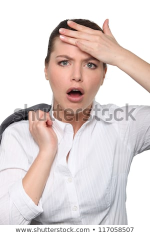 Stock photo: Woman who has forgotten something
