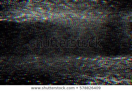 白 ノイズ 小さな ブルネット 音楽を聴く ヘッドホン ストックフォト © lithian