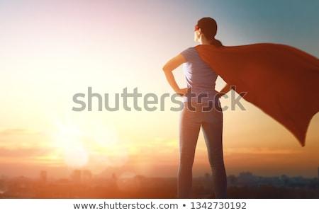 Superhero kobieta ilustracja piękna sexy kobieta kostium Zdjęcia stock © Kakigori