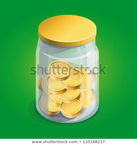 glass jar with coins for crisis stock photo © asturianu