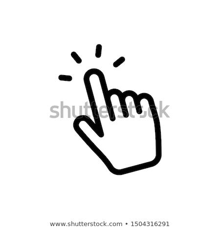 человеческая · рука · пальца · указывая · прибыль · на · акцию · 10 - Сток-фото © jara3000