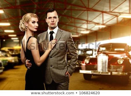araba · bebek · seksi · sarışın · kız · oturma - stok fotoğraf © dolgachov