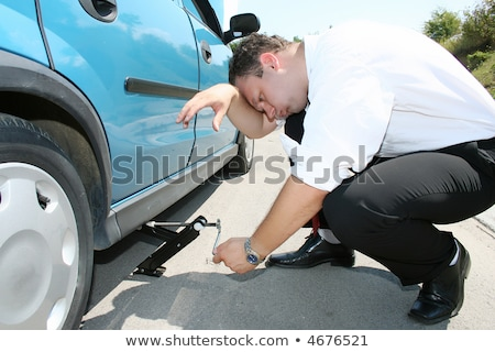 Stock photo: Flat Tire - Middle of Nowhere