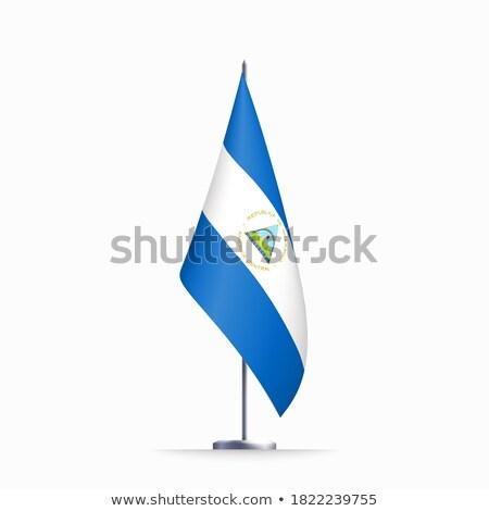 共和国 · ニカラグア · 北 · アメリカ · マップ · プラス - ストックフォト © Vectorminator