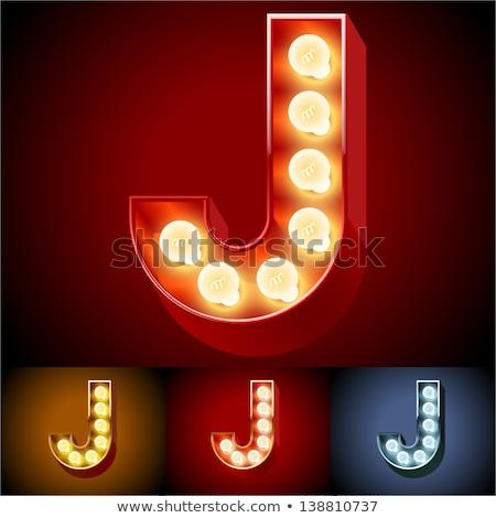 neon letter j stock photo © designer_things