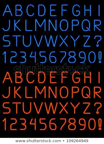 izzó · neon · rózsaszín · ábécé · használt · minta - stock fotó © designer_things