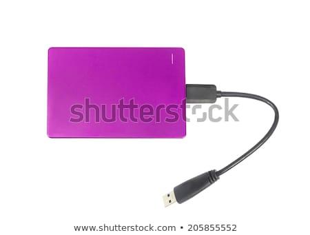 Purple external hard disk Stock photo © Witthaya