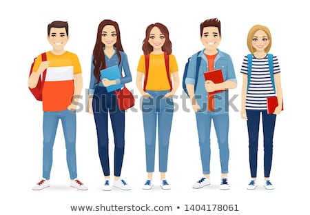 Beautiful friendly teen student girl. Stock photo © lithian